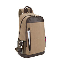 sling dual 12 oz canvas pvc leather ipad zip tablet modern backpack G3229