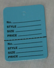 200 BLUE Small (1.1/4 x1.7/8) Perforated Unstrung Price Consignment Store Tags