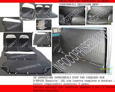 COPRISEDILI CINQUINO FIAT 500 L NERO 10L sim lunette complete e bordino BIANCO