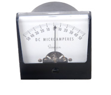 Vintage Simpson Direct Current Microamperes Panel Meter Gauge 50 0 50 Untested