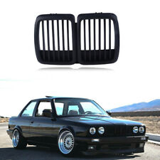 For 1982-1994 BMW E30 Grill 3 Series Front Hood Kidney Grille Cover M3 Look 2PCS