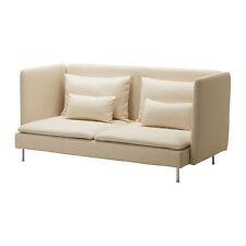 IKEA Soderhamn High Back 3 Three Seat Sofa Cover Isefall Natural off White Ivory