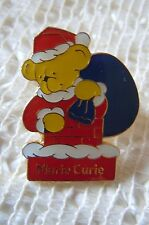 Marie Curie Charity Yellow Bear Christmas Santa Pin Badge