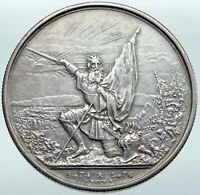 1874 SWITZERLAND Canton ST GALLEN Shooting Festival Swiss Silver 5Fr Coin i87255