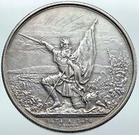 1874 SWITZERLAND Canton ST GALLEN Shooting Festival Swiss Silver 5Fr Coin i87255
