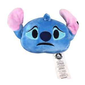 "Disney Stitch Emoji Plush Reversible 4""  Face Stuffed Toy"