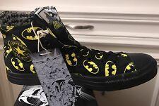 New Converse X DC Comics BATMAN Logo Black Yellow Rare Men's Size 10.5