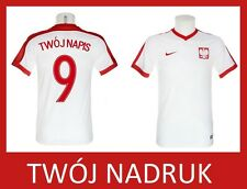 Lewandowski 9 MILIK 7 NAME Nickname NIKE POLAND Boys Kids Jersey t-shirt Polska