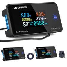 6 In 1 Ac50 300v Color Display Digital Power Energy Meter Ammeter Voltmeter