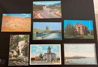 Lot of 7 Original Vintage Postcards - Montana - Billings, Butte +