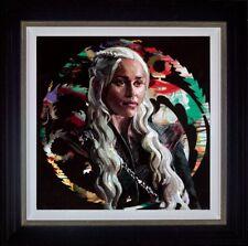 Zinsky Mother of Dragons Framed Embellished Canvas on Board