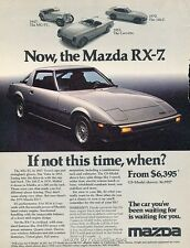 1978 1979 Mazda Rx-7 1970 240Z - Original Advertisement Print Art Car Ad J645