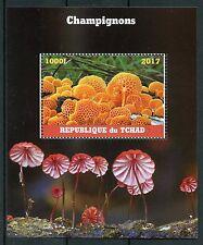 Chad 2017 CTO Mushrooms 1v M/S Champignons Fungi Stamps