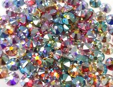 144 SWAROVSKI Crystal HOTFIX Rhinestones FlatBack Color AB Only MIX 16ss