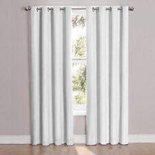 """Eclipse Cassidy Blackout Grommet Window Curtain Panel,  52"""" x 63"""" -Inch, White"""