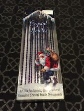 crystal icicles hand twisted ornaments old world-CHRISTMAS-PURPLE-RARE 2A
