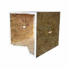 "Record Storage box wood Plain LP 12"" inch vinyl album display holder OSB smiley"