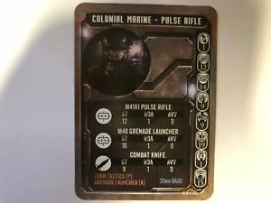 COLONIAL MARINE WITH PULSE RIFLE GAME CARD - ALIEN VS PREDATOR - PRODOS - AVP