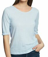 1. State Women's Top Powder Blue Size Small S Knit Tee Knot back $54 #544