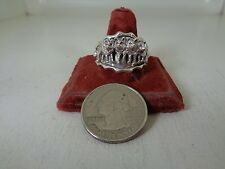 Wolf Pack Ring .925 Sterling Silver Size 12 No Stone  By Running Bear R.B