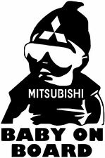 "6""  MITSUBISHI BABY ON BOARD vinyl car window decal sticker BUY2GET1FREE!"