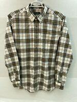 Eddie Bauer Long Sleeve Plaid Button Down Lightweight Flannel Shirt Mens XL