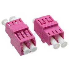 50pcs Fiber LC UPC MM OM4 Duplex Ordinary Adapter Optical Fiber Connector Flange