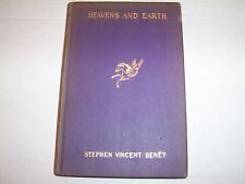 """Antique 1920 """"Heavens And Earth, A Book Of Poems"""" by Stephen Vincent Benet"""