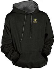 RockStar Two Tone Hooded Sweatshirt - Black w/Gray Inside - (Men's Medium) *NEW