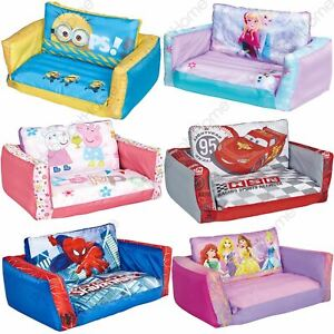 FLIP OUT SOFA INFLATABLE KIDS - MINIONS FROZEN PAW PATROL PEPPA PIG