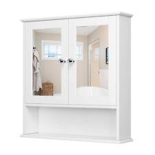 Badezimmerschrank Badschrank Wandschrank Schminkschrank mit Spiegel 56*13*58cm