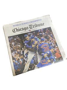 *COLLECTIBLE* Chicago Tribune - November 3, 2016 - World Series Champions