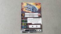 X-WING Oversized card BOBA FETT - HAN SOLO Promo Card FFG 2013 Star Wars