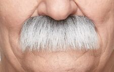 High quality Grandpa's white with gray false, self adhesive  mustache