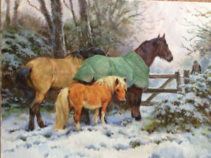 Horses in the Snow Christmas Cards pack of 10 by R S Welch. C544X