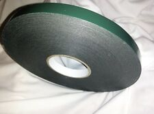Roll of BLACK Double Sided sticky PE Foam Adhesive Tape 12mm x 10 METRES HD T519