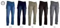 Pantalone da Lavoro Multitasche DPI Cargo Tecnico Meccanico  Fit Jeans Uomo