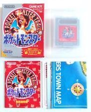 POCKET MONSTERS Pokemon Red Nintendo Game Boy GB Map Japan (3)