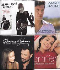 LOT 8 SINGLES VF DION/PAGNY/RED/JENIFER/AUBERT/CLEMENCE JOHNNY HALLYDAY/LAVOINE