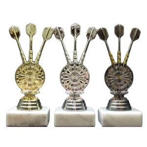 3er-Serie Dart-Pokale mit Ihrer Wunschgravur (34102-06 a.W.)