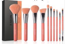 Docolor Makeup Brushes 10 Piece Neon Peach Brush Set