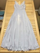 Grey Ball Gown Ballroom Dancing Pageant Prom Party Princess Dress UK 8 EU 34 £80