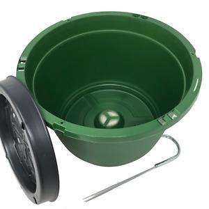 """Hanging Basket, (Qty. 20), Premium 10"""" Green Shuttle Brand, Wire Hanger"""