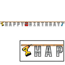 Handyman Tool Birthday Party Supplies  Banner