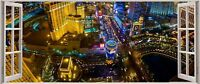 Huge 3D Panoramic Las Vegas Aerial Window View Wall Stickers Mural 296