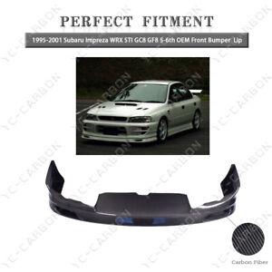 CF Front Lip For 95-01 Subaru Impreza WRX STI GC8 GF8 5-6th OEM Front Bumper