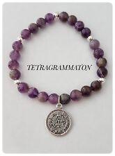 Pulsera Tetragrammaton plata silver pentagram AMATISTA  wiccan Pendant Brazalet
