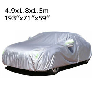 6-Layer Waterproof Car Cover for Auto Sedan All Weather High Quality Fits 3XL