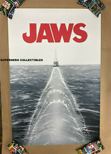 Jaws Movie Variant Screen Print Poster #9/50 By Doaly Mondo Artist Free Fedex