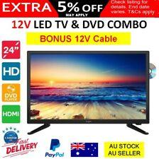 "NEW 60cm 24"" inch 12V TV DVD COMBO LED Caravan Motorhome Boat TV +12V Cable"